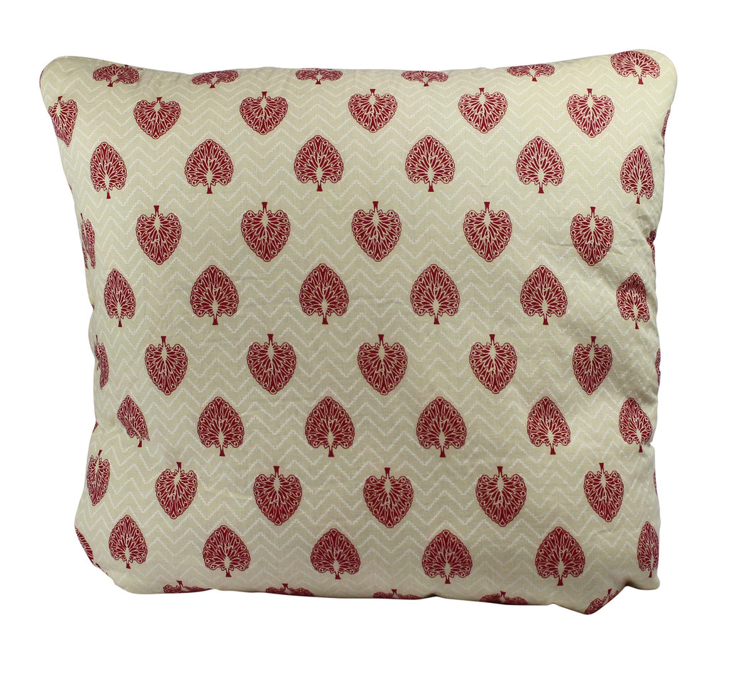 Peacock Monarch Red Secret Pillow