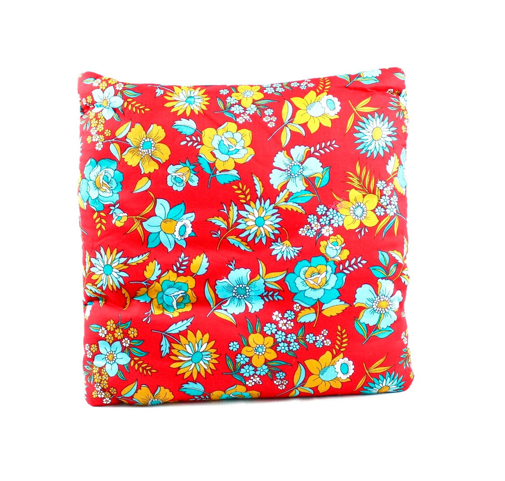 Temple Fields Red Secret Pillow