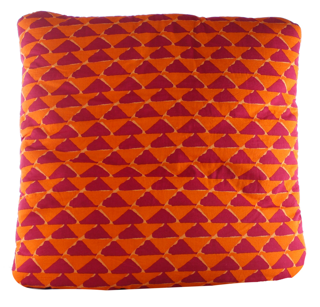 Triangle Mania Orange Secret Pillow