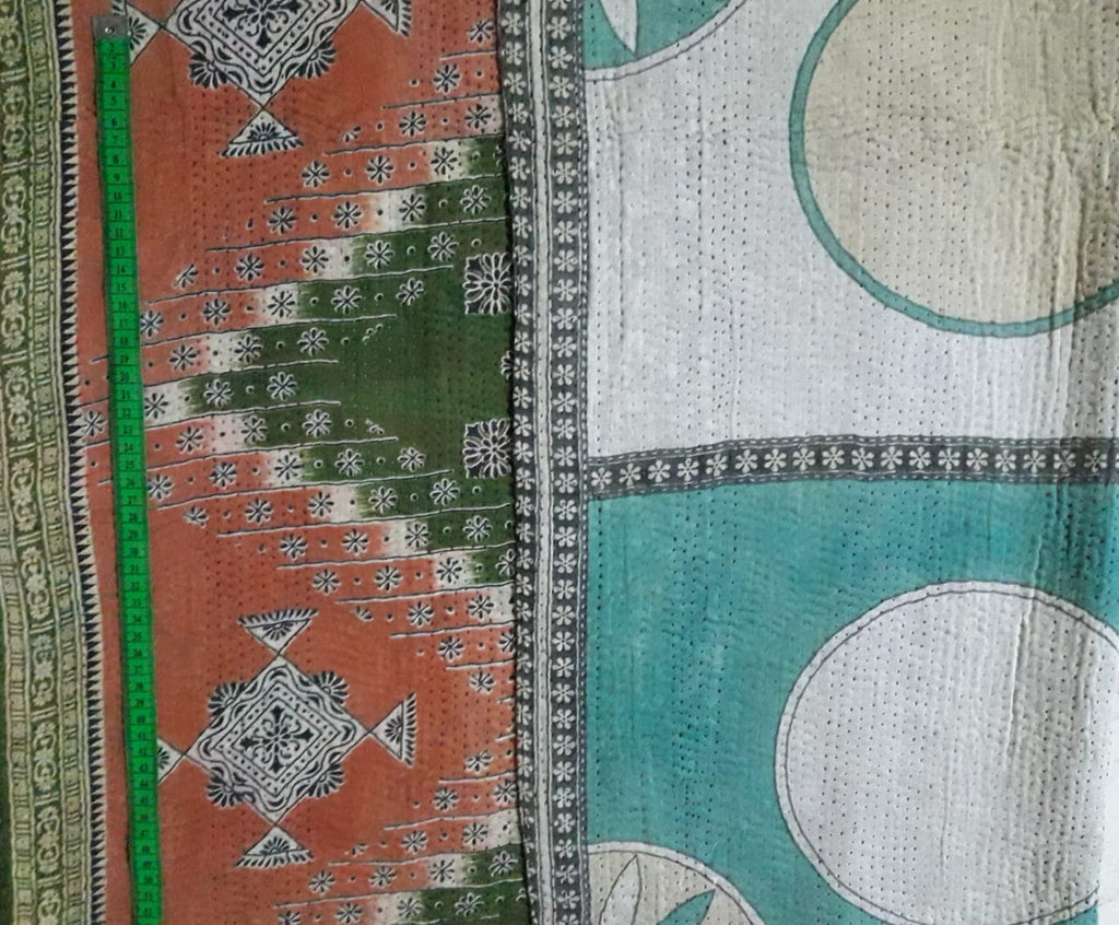 Temple rangoli Kantha Blanket (single)