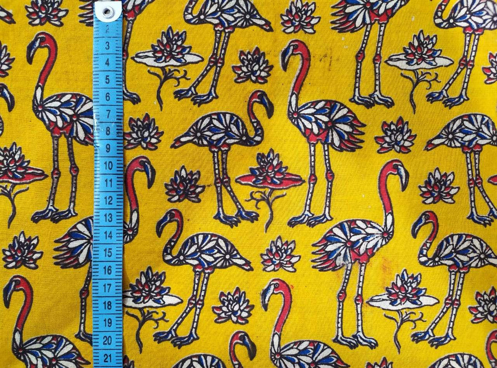 Flamingo Yellow Fabric
