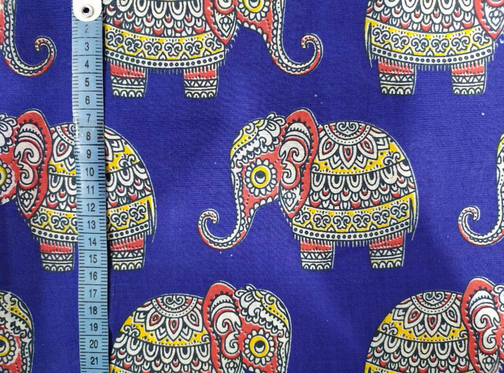 Baby Elephant Blue Fabric
