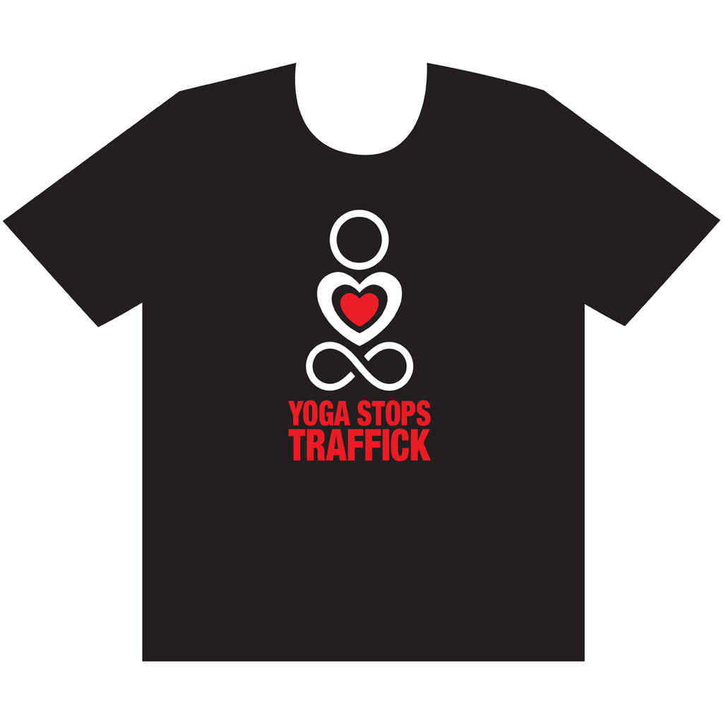 Yoga Stops Traffick T-shirt (uni sex)