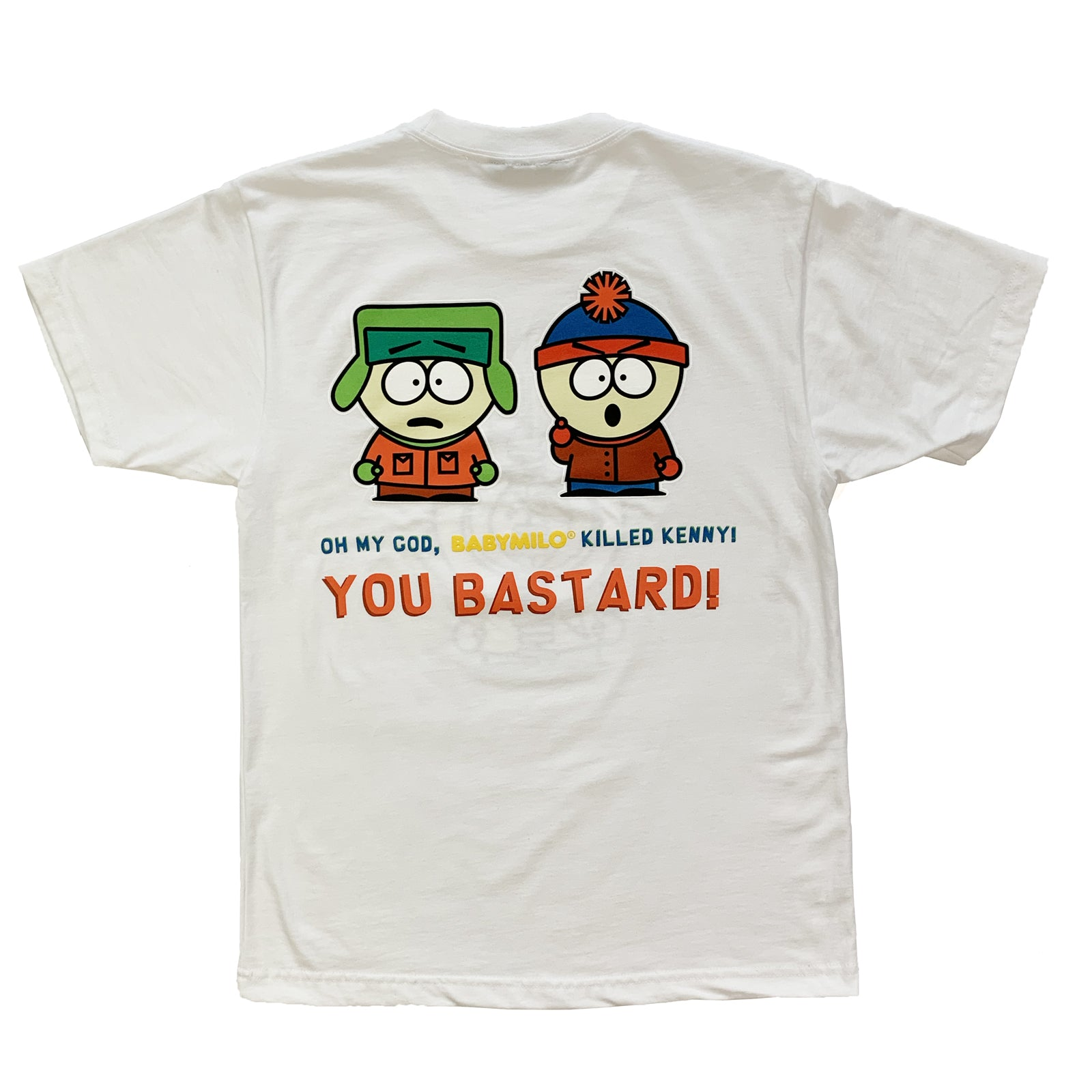 "BANDULU "" BABY MILO ® KILLED KENNY "" WHITE TEE"
