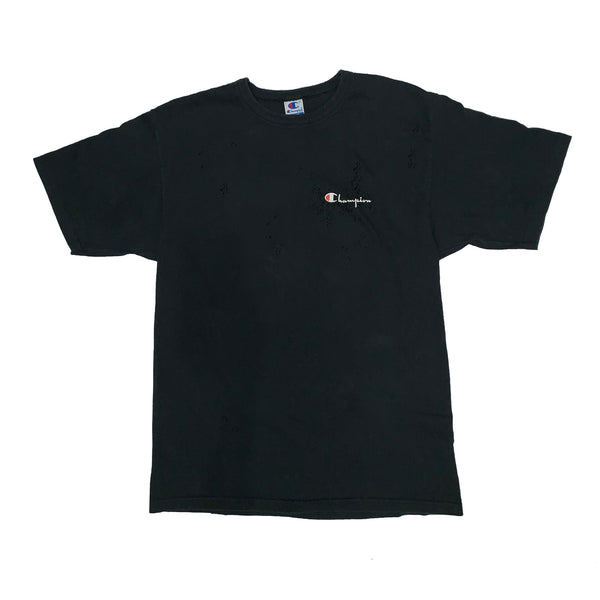 "BANDULU "" BLACK ON BLACK "" VINTAGE CHAMPION TEE"