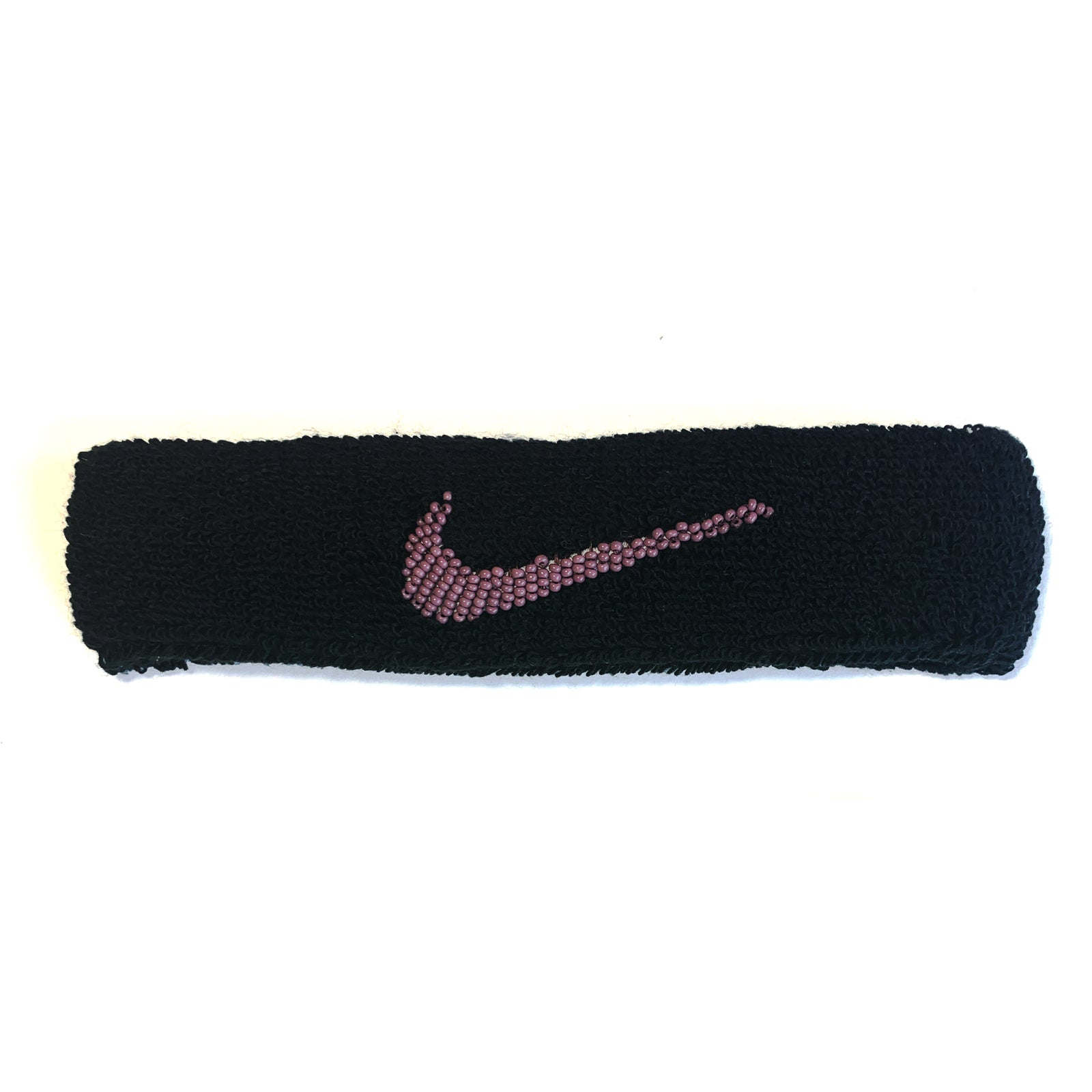 "BANDULU "" ORCHID "" BEADED NIKE HEADBAND"