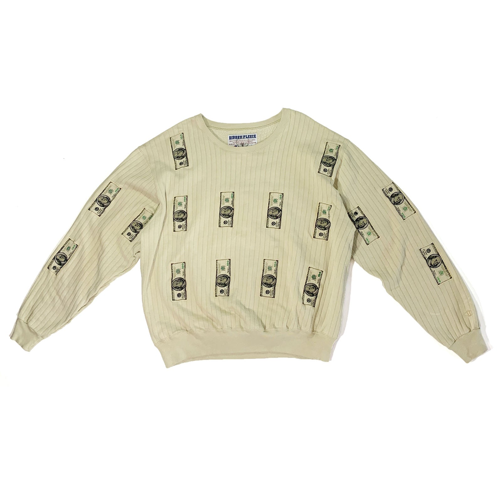 "BANDULU "" FEDERAL RESERVE "" XL RIBBED CREW"