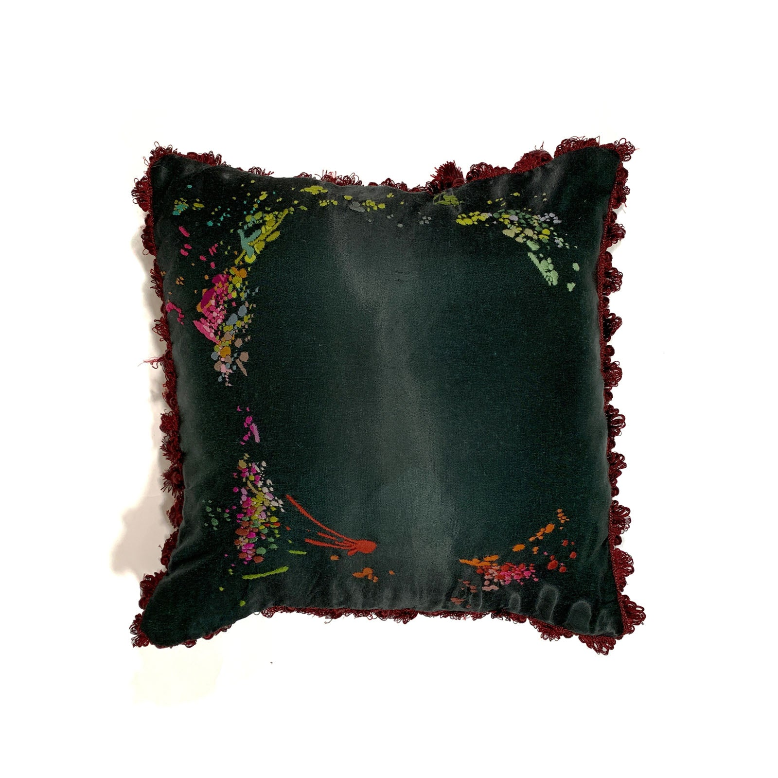 "BANDULU "" POISON IVY "" 18 "" x 18 "" PILLOW"