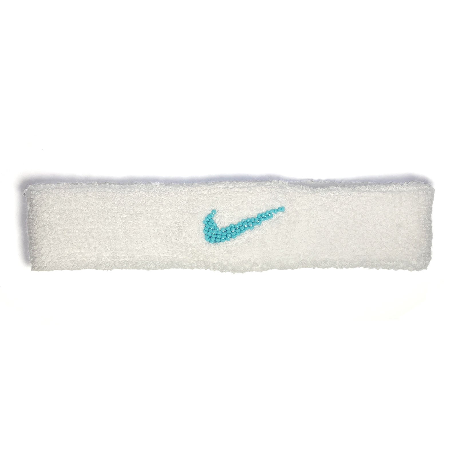 "BANDULU "" CAROLINA "" BEADED NIKE HEADBAND"