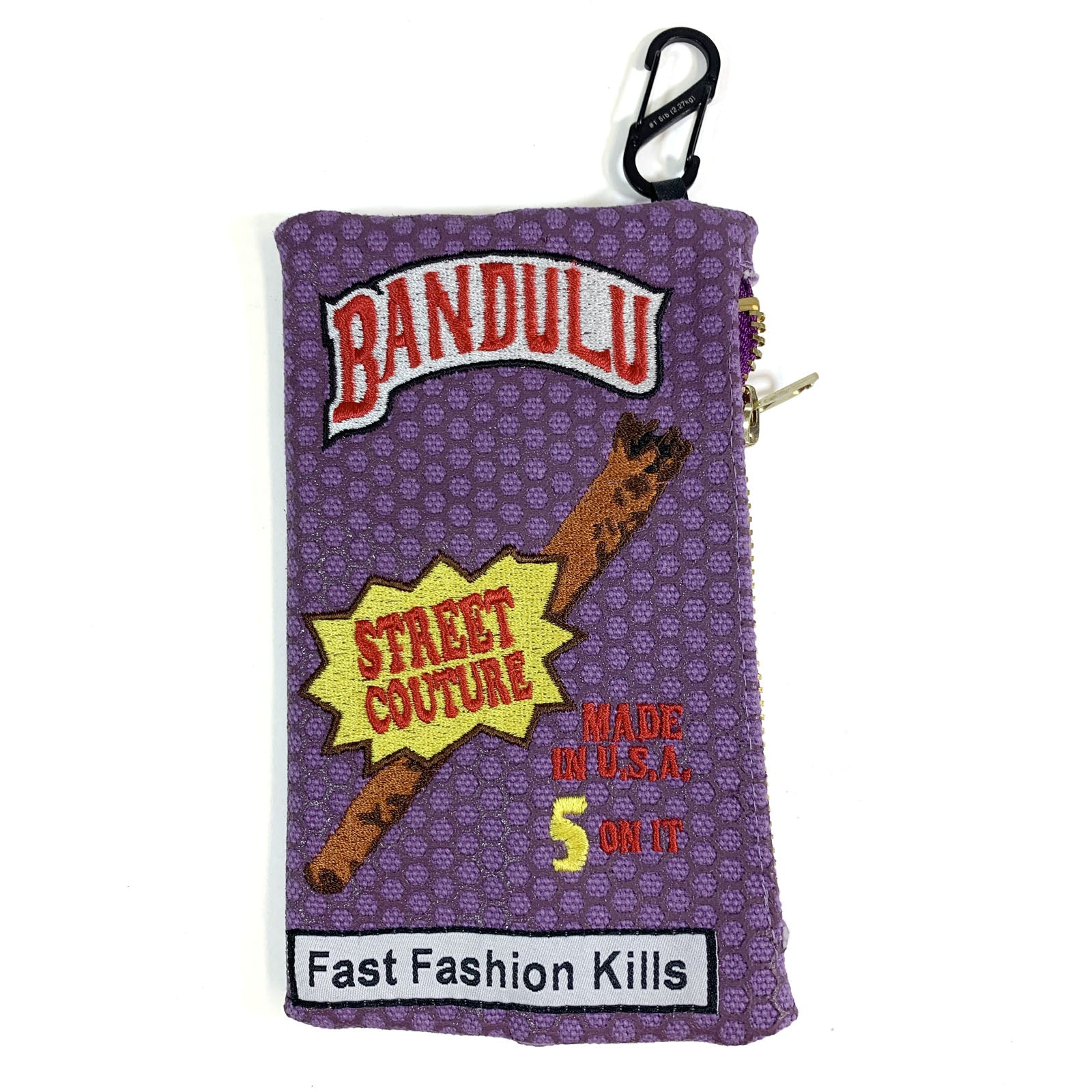 "BANDULU "" HONEY BERRY "" CANVAS POUCH"
