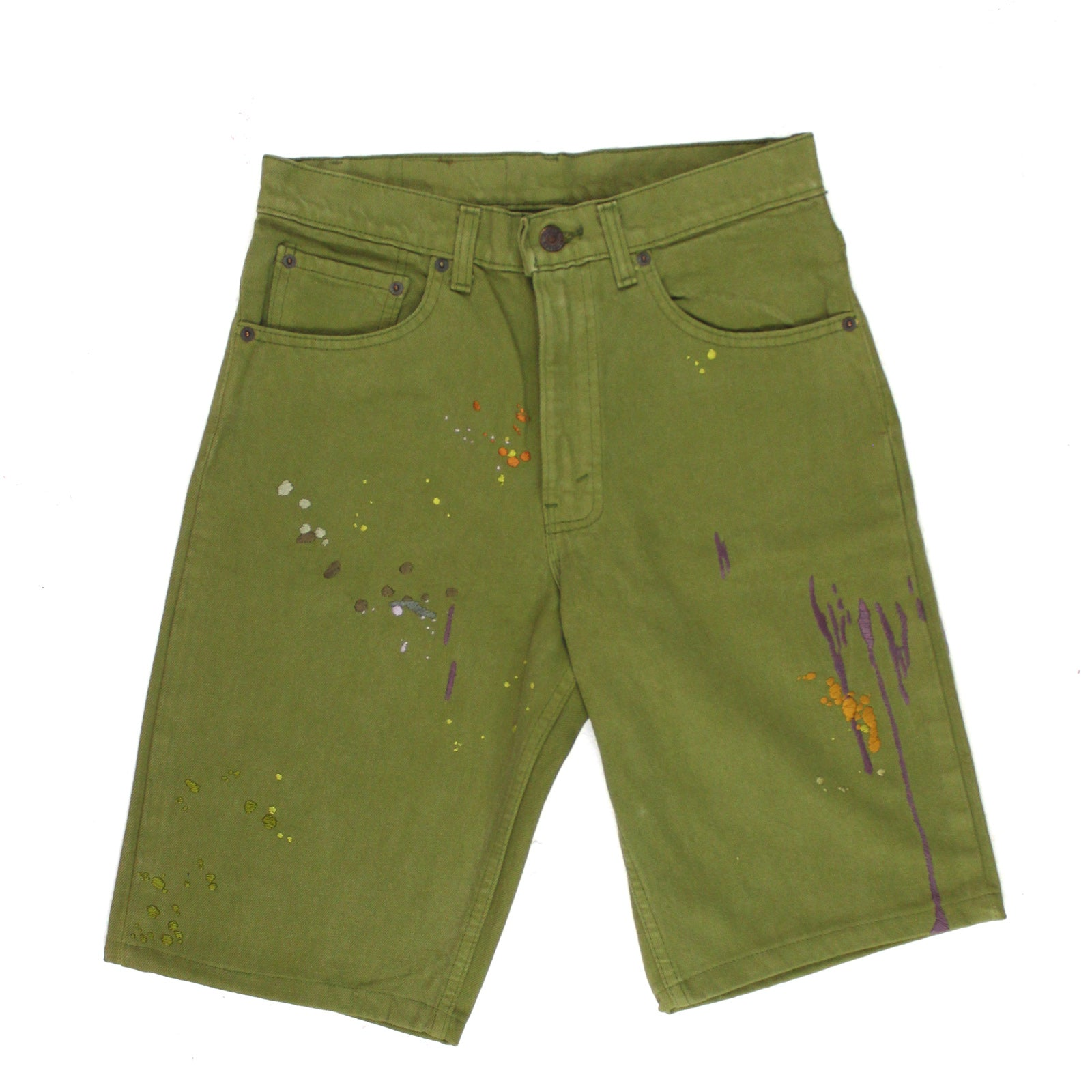 "BANDULU ""OLIVE IN AUGUST"" VINTAGE LEVI'S JORTS"