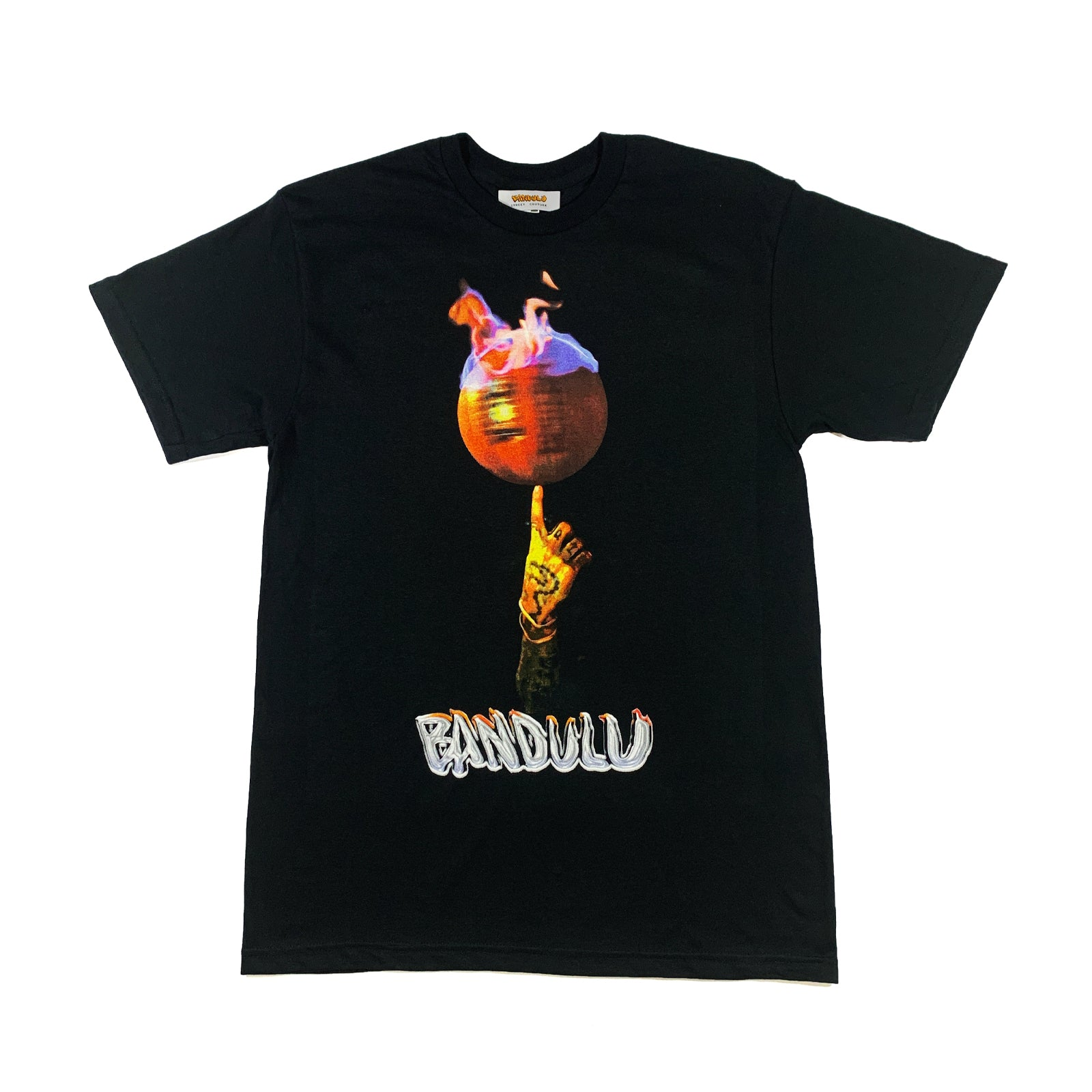 "BANDULU "" ON FIRE "" BLACK TEE"