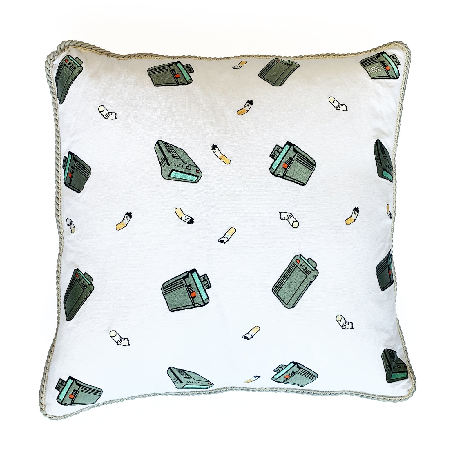 "BANDULU "" BEEPER AND CIGS "" 24 INCH PILLOW"
