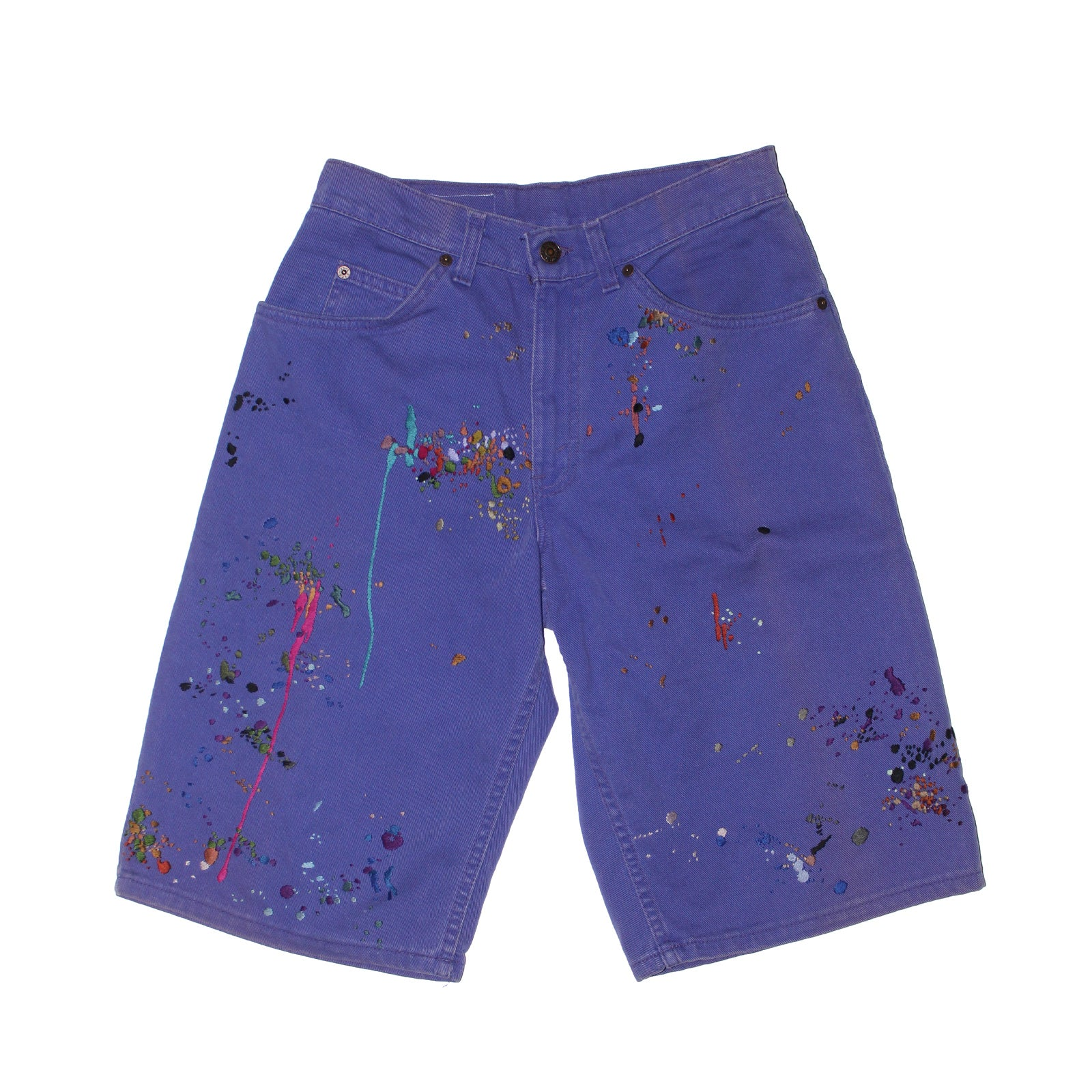 "BANDULU "" GRAPES OF LAUGH "" VINTAGE LEVI'S JORTS - 30"""