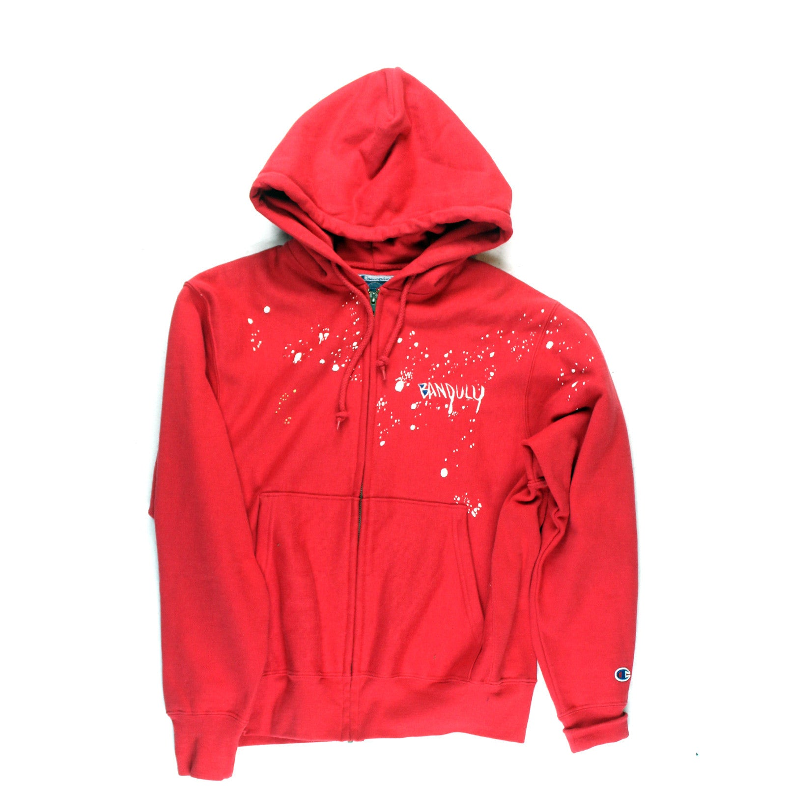 "BANDULU ""RED RAIDERS"" VINTAGE CHAMPION ZIP HOODIE"