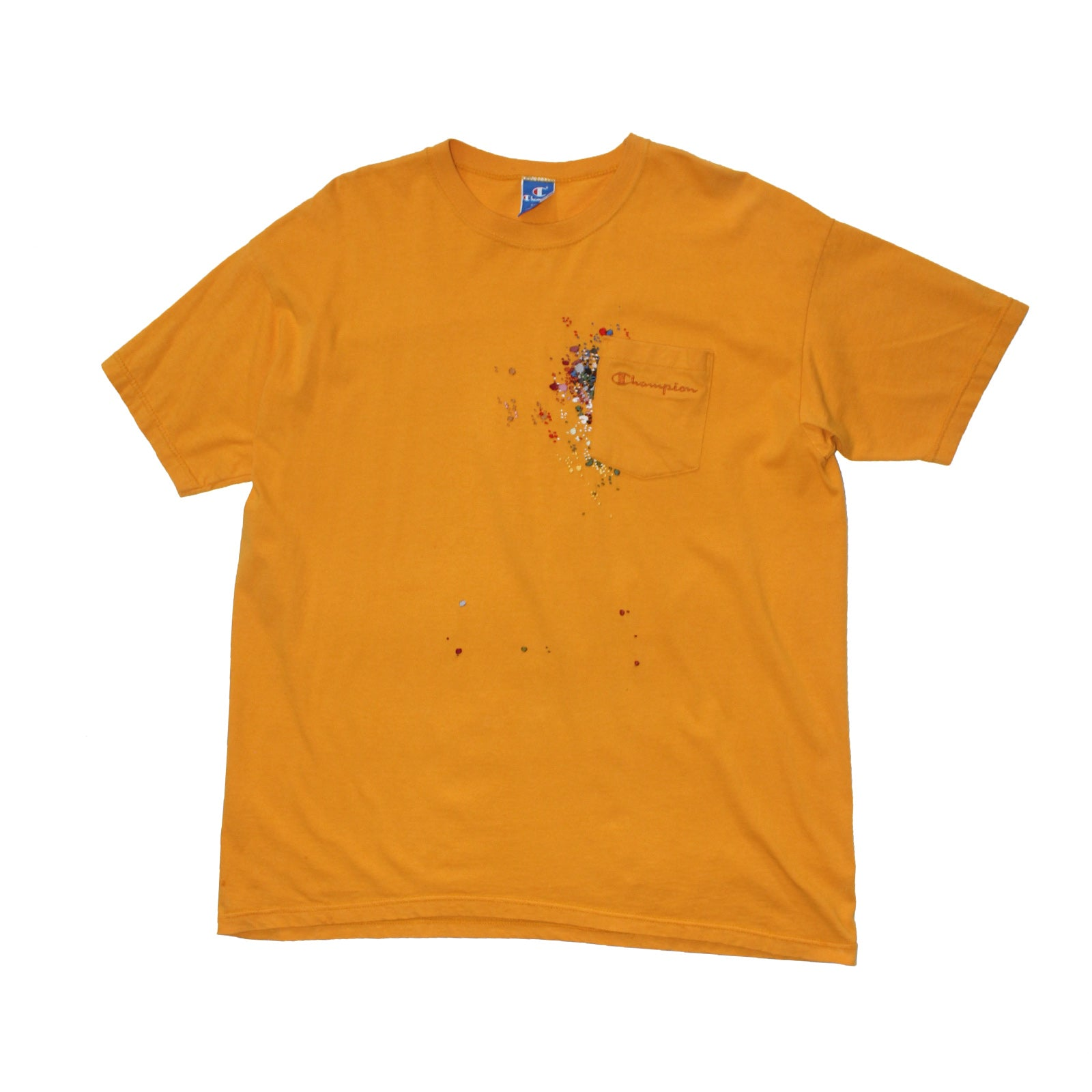 "BANDULU  ""HELLO YELLOW"" VINTAGE CHAMPION TEE"