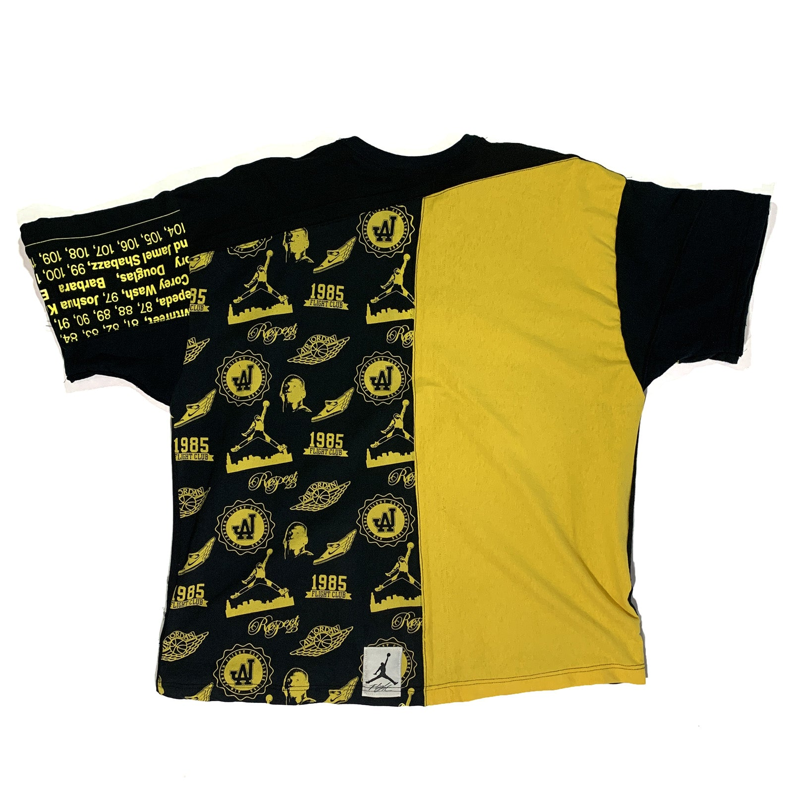 "BANDULU ""BLACK AND YELLOW"" CUT 'N SEW L TEE"