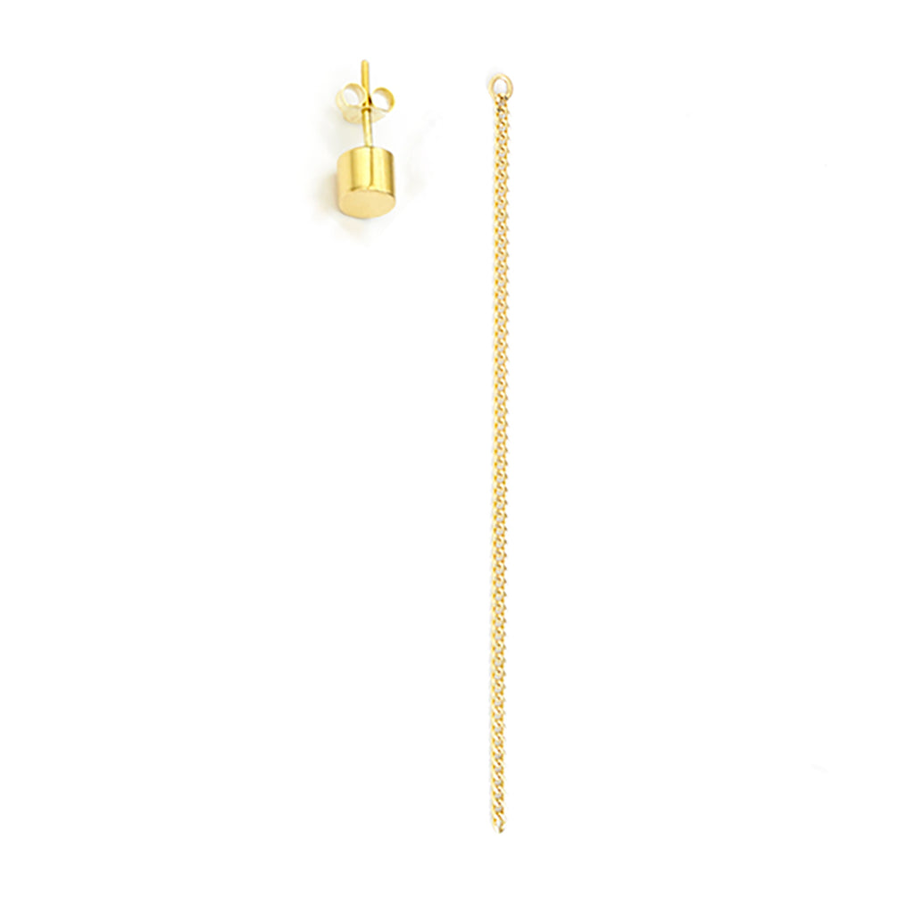 Single Bold Round Stud Big + Earpin Ornament