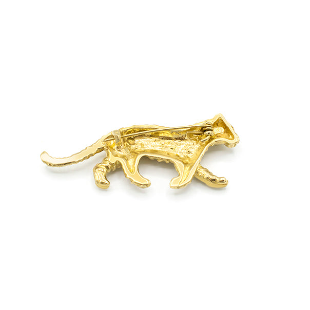 Brooch Tiger Gold - Broche Tijger Goud - Pin backpart