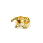 Lion pin - Brooch Lioness Gold - Leeuwin Broche Goud - Back part