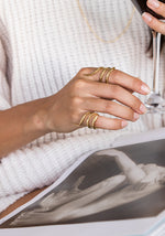 Double Snake Ring Gold - Slangen Ring Goud - Two Rings and book