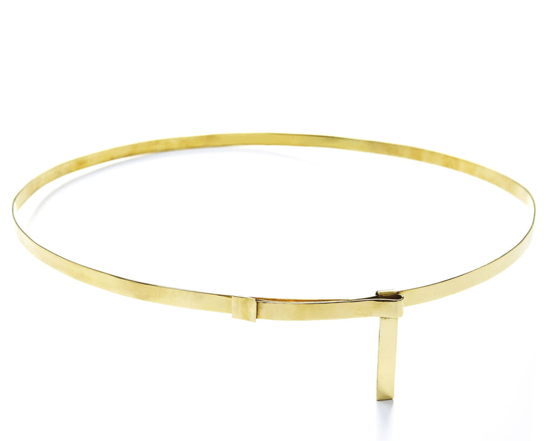 Full image Alt Belt made of Brass inspired by Emmanuelle Alt.