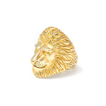 Lion Ring Gold - Leeuw Ring Goud - Leeuwen Ring Goud Front