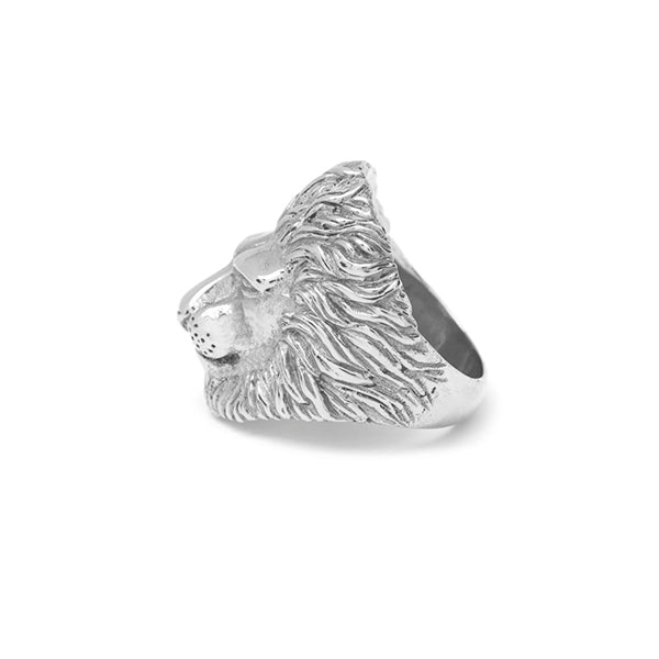 Lion Ring Silver 925 - Leeuw Ring 925 zilver - side view