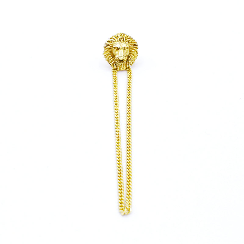 Lion Chain Earring GOLD