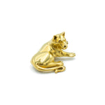 Lioness Brooch Gold - Lion Pin - Leeuwen brooch Goud