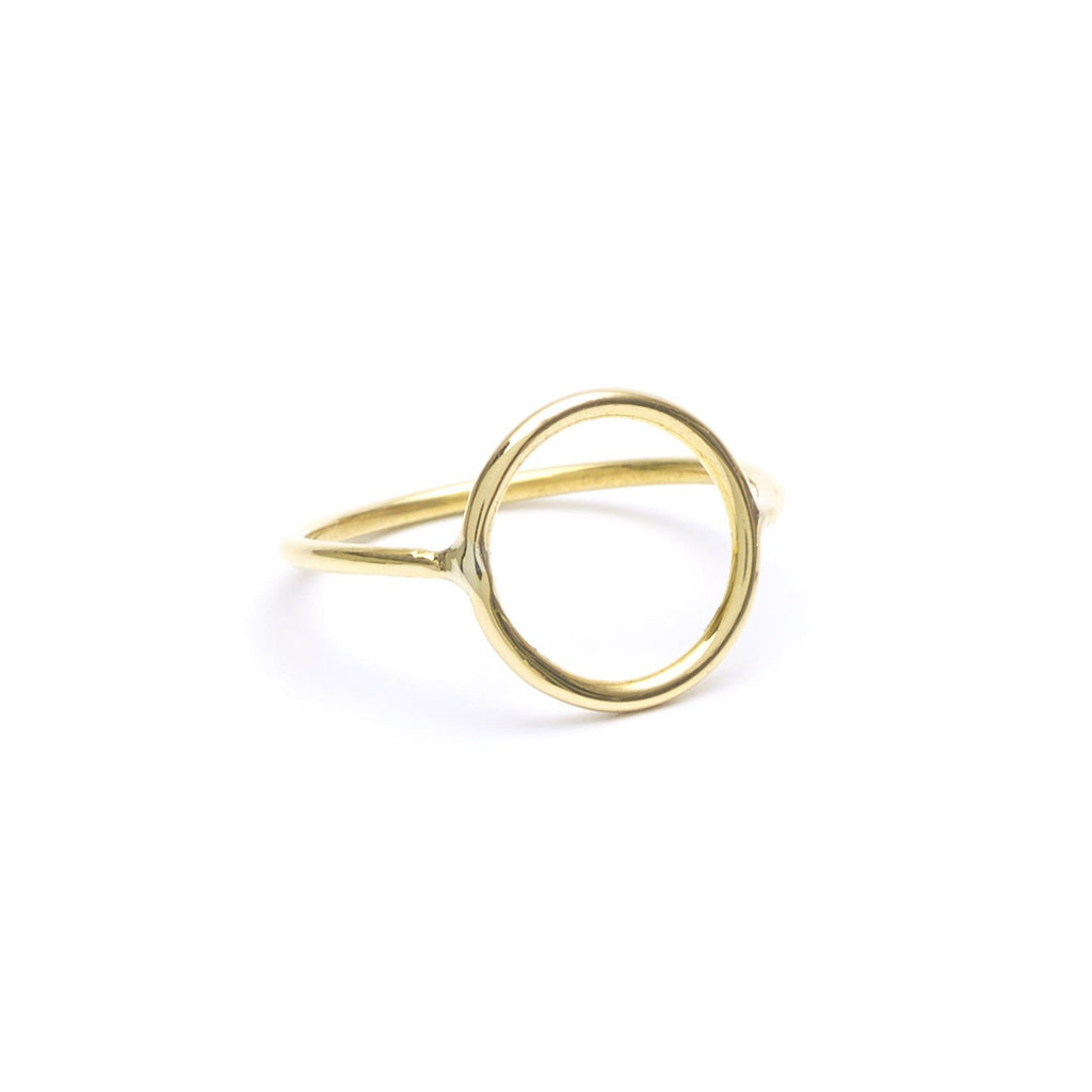 Brass jewelry handmade O ring, minimalist rings in a minimalist jewelry collection.