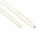 Pearl Necklaces Gold 14k and 18k - Parel Kettingen Goud  - 2 sizes