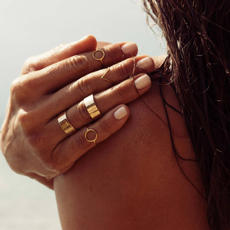 Brass jewelry handmade V ring, minimalist rings in a minimalist jewelry collection.  From knuckle ring to big size rings