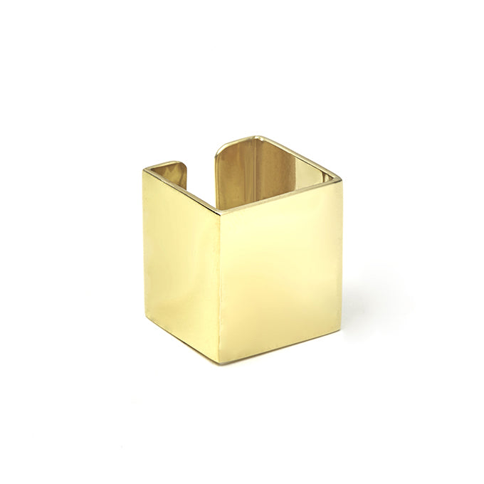 Square Ring Gold - Vierkante Ring Goud - Brass
