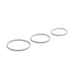 Sun Twist Ring Set Sterling 925 Silver - Gedraaide Ring Set Sterling 925 Zilver