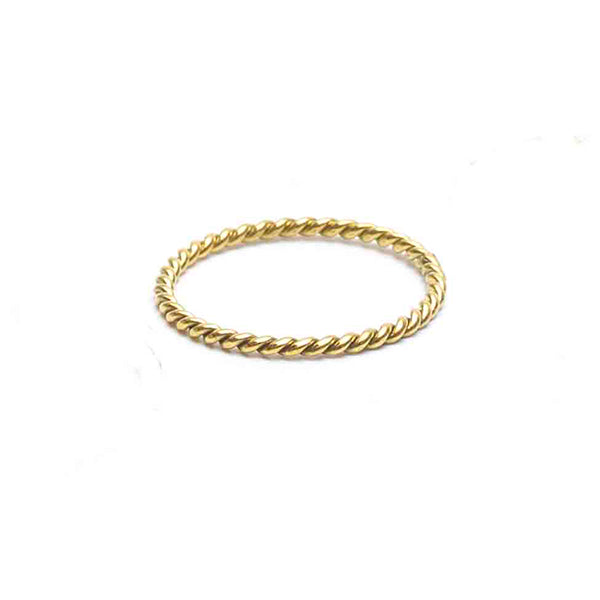 Sun twist Ring Gold - Gedraaide Ring Goud - Gold product