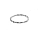 Sun Twist Ring Sterling 925 Silver -Gedraaide Ring iSterling 925 Zilver - Product