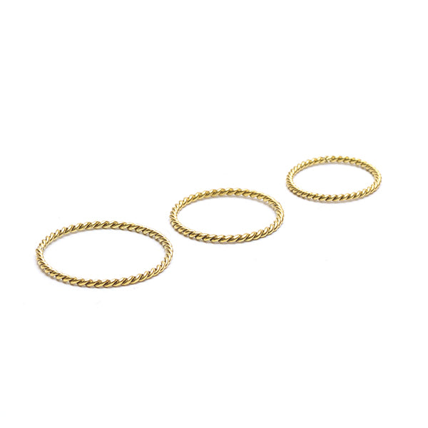 Sun Twist Ring Set Gold - Gedraaide Ring Set Goud