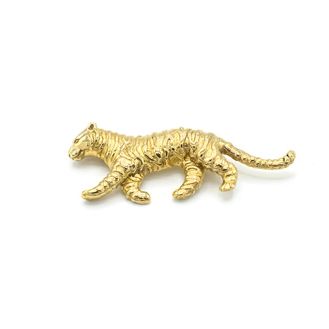Tiger Brooch Gold - Tijger Broche Goud - Pin