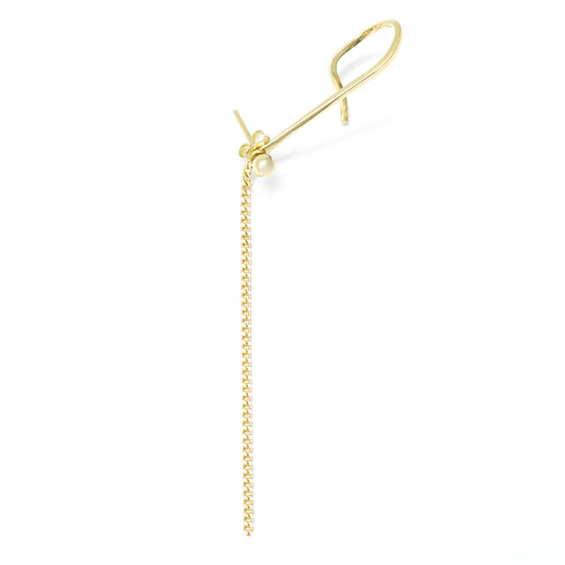 Ear Cuff + Gold Stud + Chain GOLD - MVDT COLLECTION