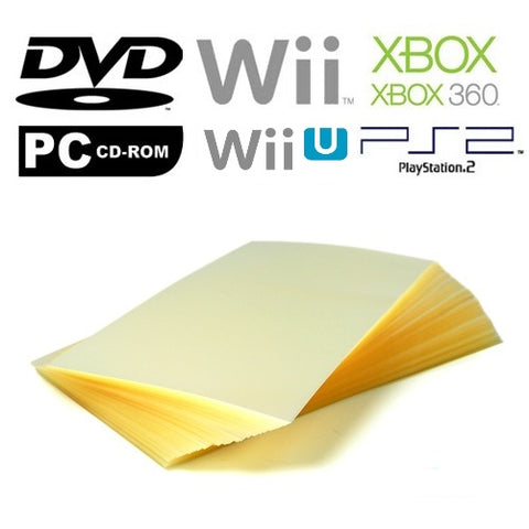 Repack-It Over-Wrap Sheets for DVD, Wii, Wii U, Xbox/Xbox 360, PS2 and PC-CD ROM Cases
