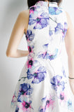 Shanghai Printed Dress-White