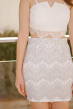 Ophelle Lace Skirt-Grey/Green