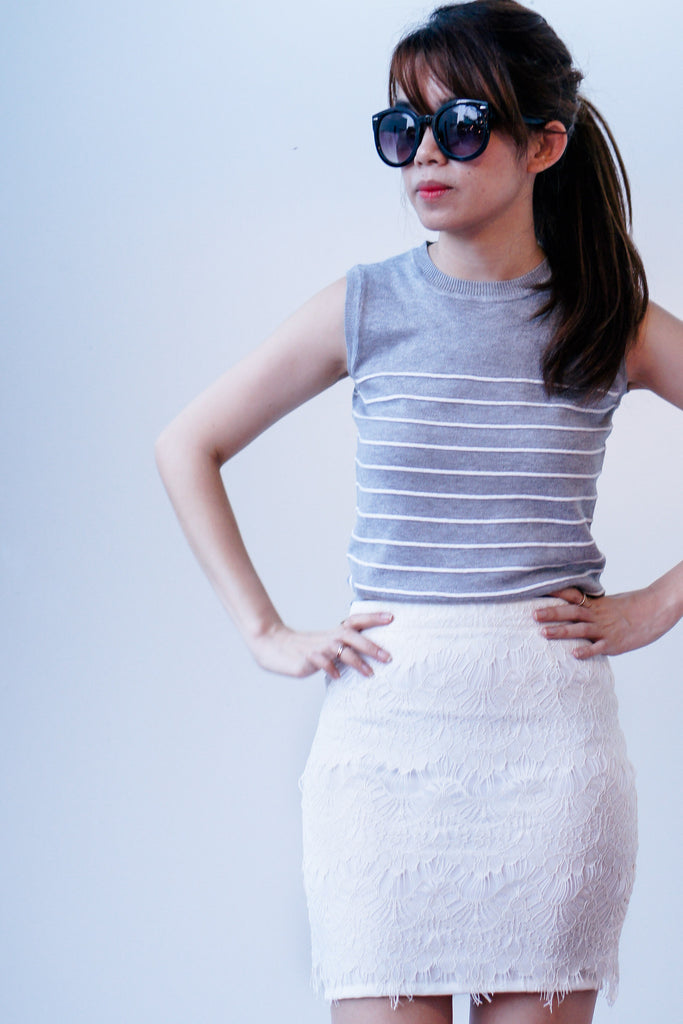 Ophelle Lace Skirt-White
