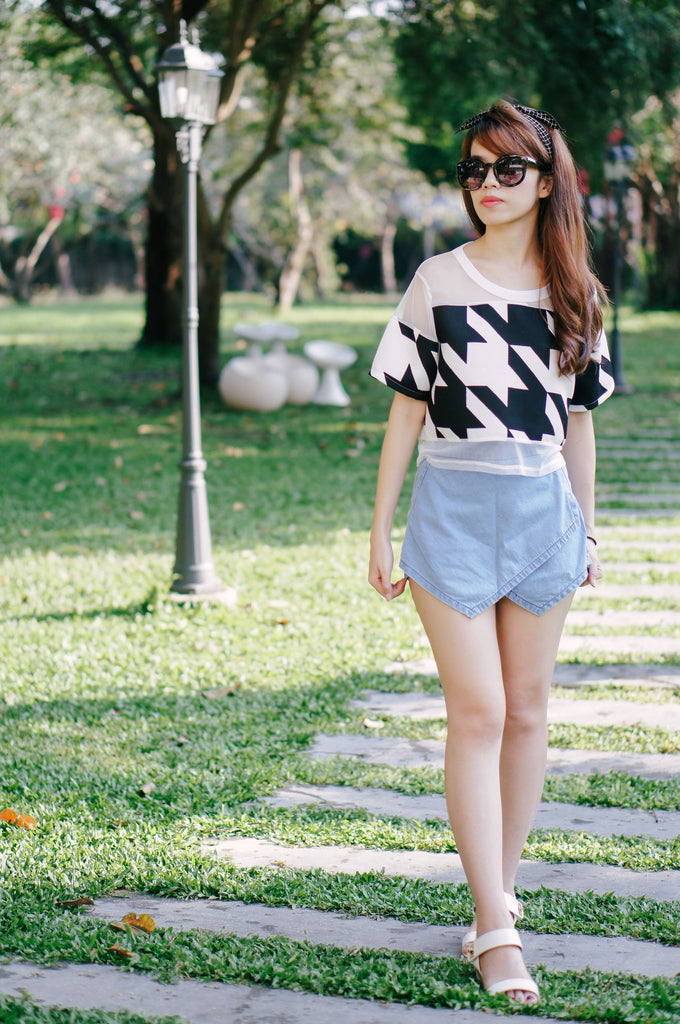 Adelie Denim Skort