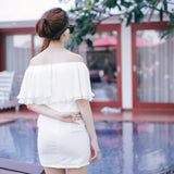 Blanc Off Shoulder Dress-White