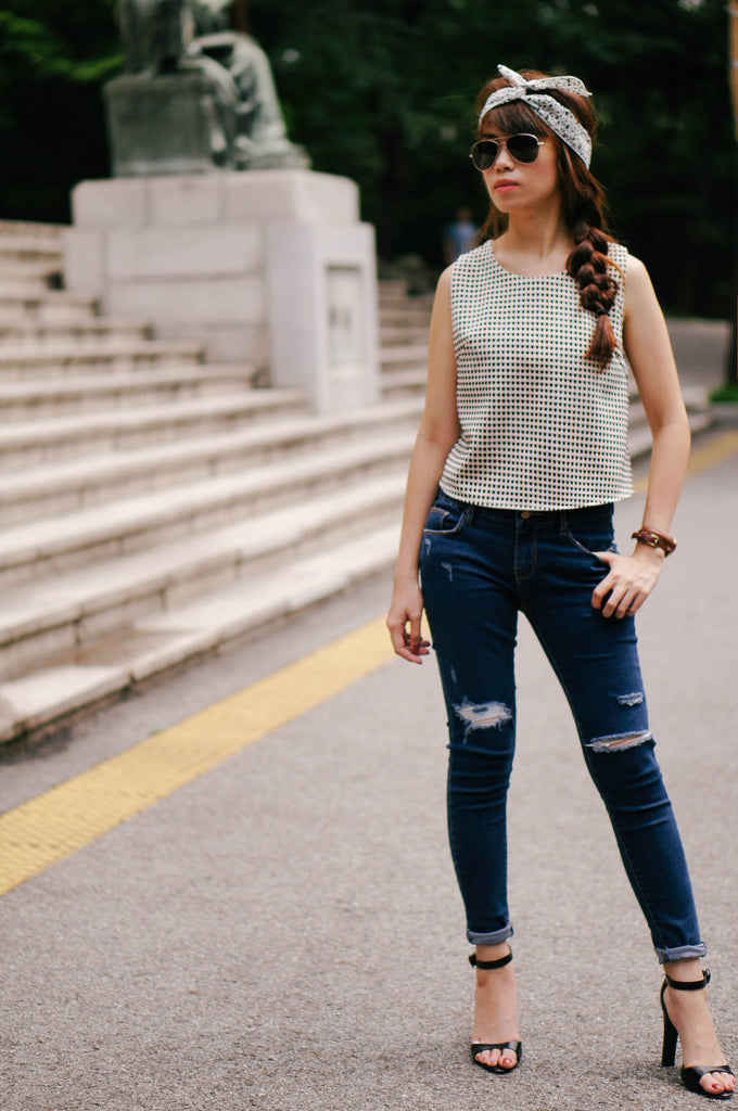 Rosalie Checked Sleeveless Top