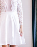 Arietta Lace Skirt-white