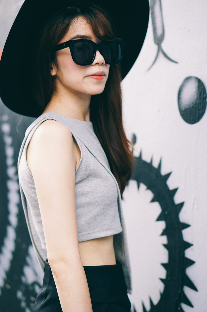 Kaylee Crop Top - Gray