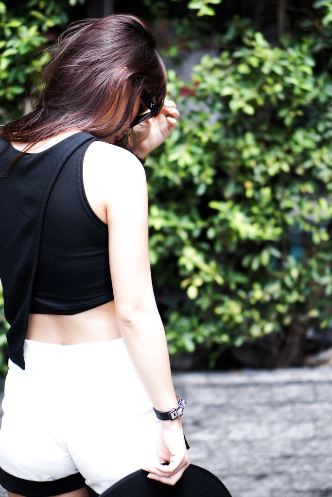 Kaylee Crop Top - Black